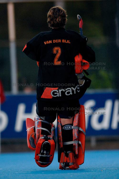 18-04-2007 HOCKEY: KAMPONG - NIJMEGEN: UTRECHT <br /> Kampong speelt met 1-1 gelijk tegen concurrent voor de playoffs Nijmegen / Keepster van der Bijl<br /> &copy;2007-WWW.FOTOHOOGENDOORN.NL