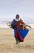 Young Masai girl  in the Serengei Plains, Tanzania.