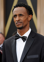 Barkhad Abdirahman arriving to the 2014 Oscars at the Hollywood and Highland Center in Hollywood, California, USA,  Sunday, 2nd March 2014. Picture by Hollywood Bubbles / i-Images<br /> UK ONLY