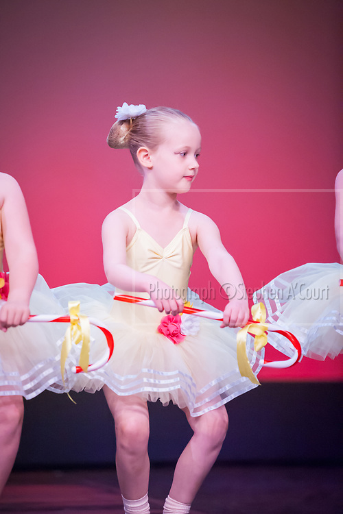 """Wellington, NZ. 5.12.2015. Candy Canes """"Sparkles"""", from the Wellington Dance & Performing Arts Academy end of year stage-show 2015. Little Show, Saturday 12.45pm. Photo credit: Stephen A'Court.  COPYRIGHT ©Stephen A'Court"""