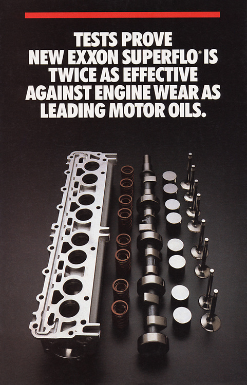 EXXON brochure cover, engine oil