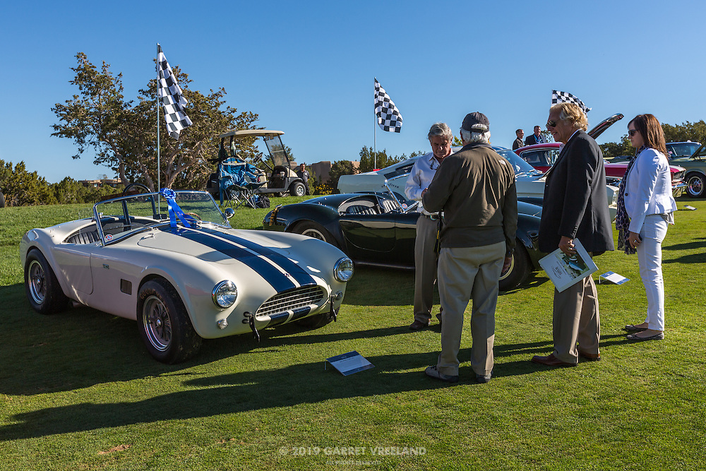 Al Unser judging the 1965 Shelby Cobra 289, in the Shelby Paddock at the 2012 Santa Fe Concorso.