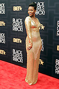 April 1, 2016- Newark, NJ: United States- Actress Teyonah Parris attends the 2016 Black Girls Rock Red Carpet Arrivals held at NJPAC on April 1, 2016 in Newark, New Jersey. Black Girls Rock! is an annual award show, founded by DJ Beverly Bond, that honors and promotes women of color in different fields involving music, entertainment, medicine, entrepreneurship and visionary aspects.   (Terrence Jennings/terrencejennings.com)