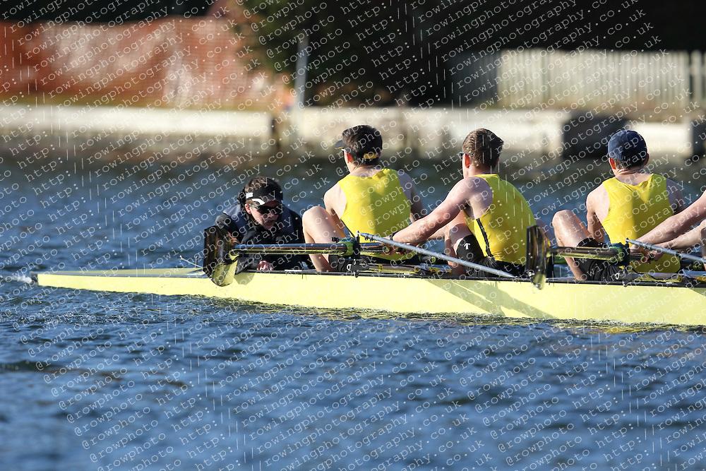 2012.02.25 Reading University Head 2012. The River Thames. Division 2. Hampton School Boat Club A J16A 8+