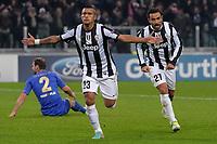 Goal celebration Arturo Vidal esultanza Juventus<br /> Calcio Juventus Chelsea<br /> Champions League - Torino 20/11/2012 Juventus Stadium <br /> Football Calcio 2012/2013<br /> Foto Federico Tardito Insidefoto