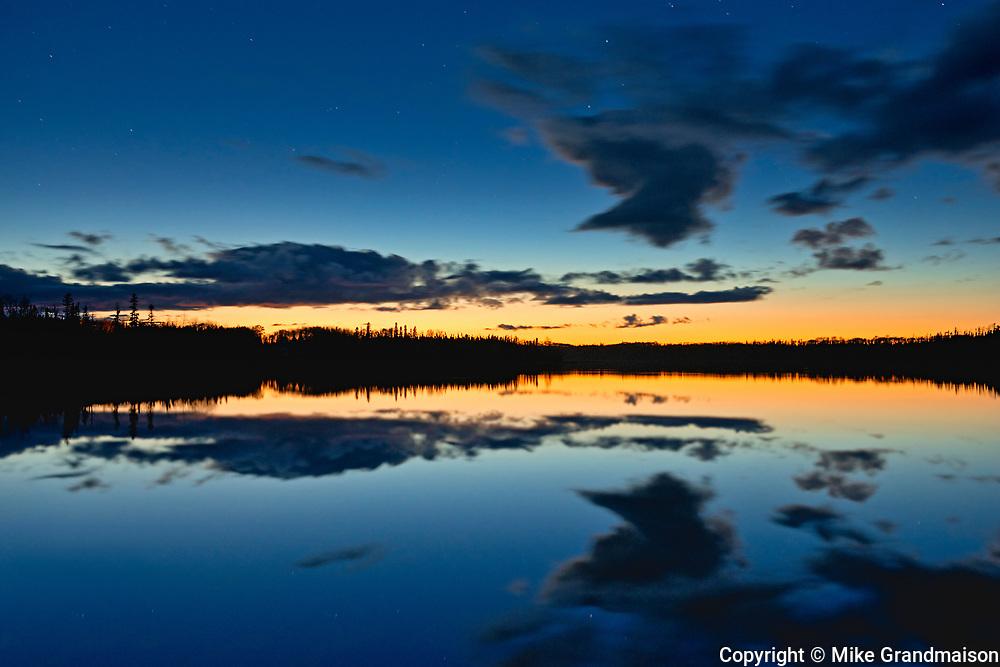 Dusk light on Klotz Lake<br /><br />Ontario<br />Canada