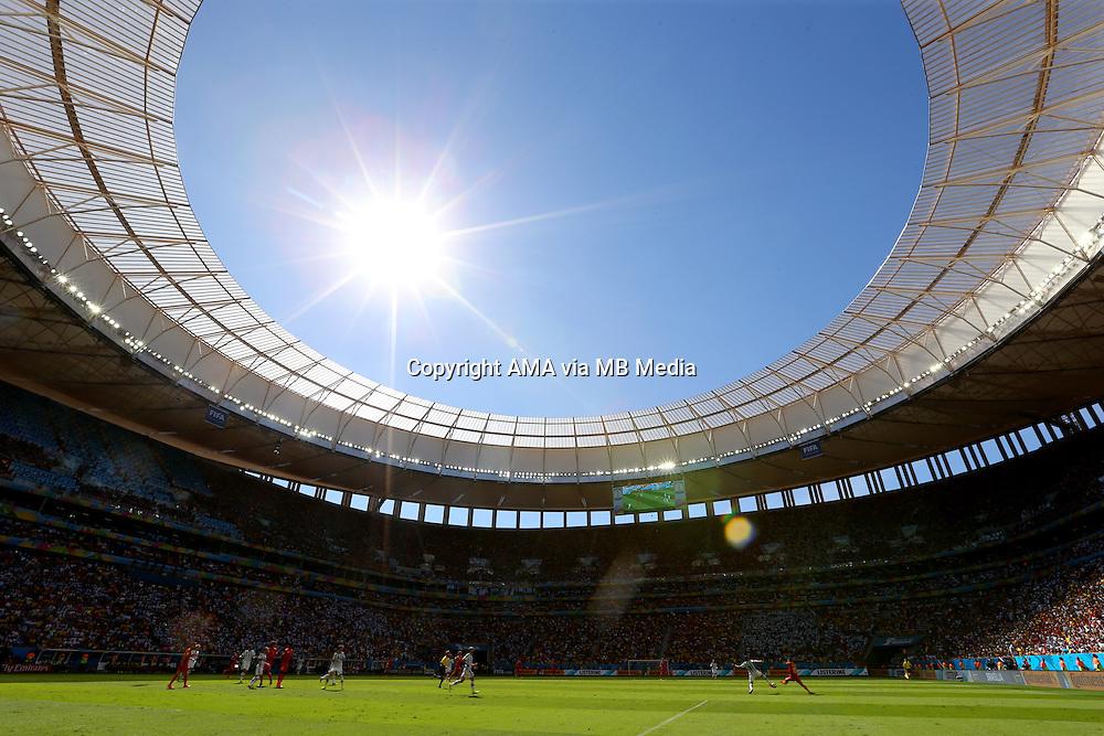 The sunshines at the National Stadium / Estadio Nacional Mane Garrincha in Brasilia, Brazil, host venue of the FIFA 2014 World Cup