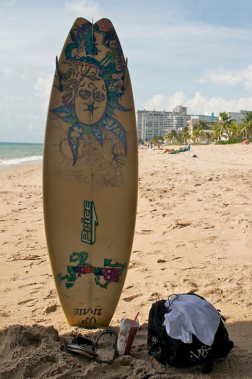 Surf Table in Lauderdale by the Sea, Florida, USA