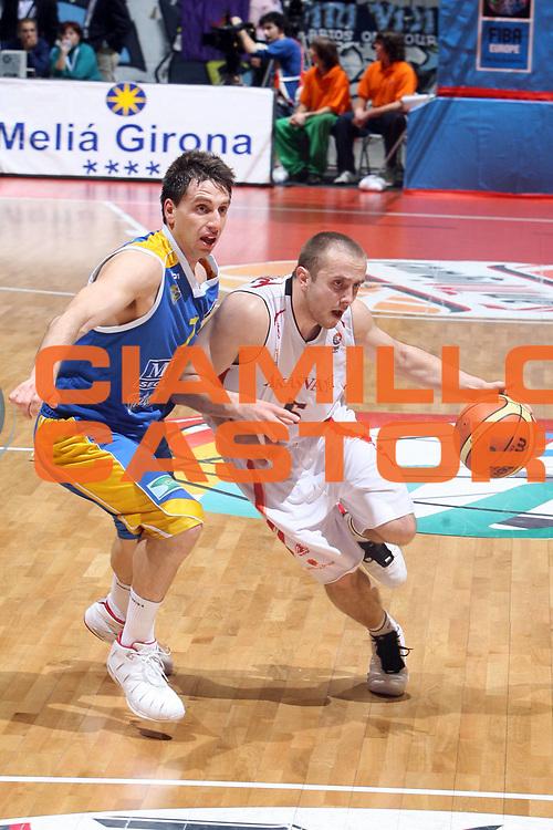 DESCRIZIONE : Girona EuroCup Final Four 2007 Semifinale Akasvayu Girona Club Estudiantes <br /> GIOCATORE : Marinovic <br /> SQUADRA : Akasvayu Girona <br /> EVENTO : EuroCup Final Four 2007 Semifinale <br /> GARA : Girona EuroCup Final Four 2007<br /> DATA : 13/04/2007 <br /> CATEGORIA : Penetrazione <br /> SPORT : Pallacanestro <br /> AUTORE : Agenzia Ciamillo-Castoria/E.Castoria