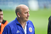 Accrington Stanley Manager, John Coleman arrives at Fratton Park during the EFL Sky Bet League 1 match between Portsmouth and Accrington Stanley at Fratton Park, Portsmouth, England on 4 May 2019.