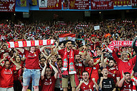 KIEV, UKRAINE - MAY 26: Liverpool fans during the UEFA Champions League final between Real Madrid and Liverpool at NSC Olimpiyskiy Stadium on May 26, 2018 in Kiev, Ukraine. (MB Media)