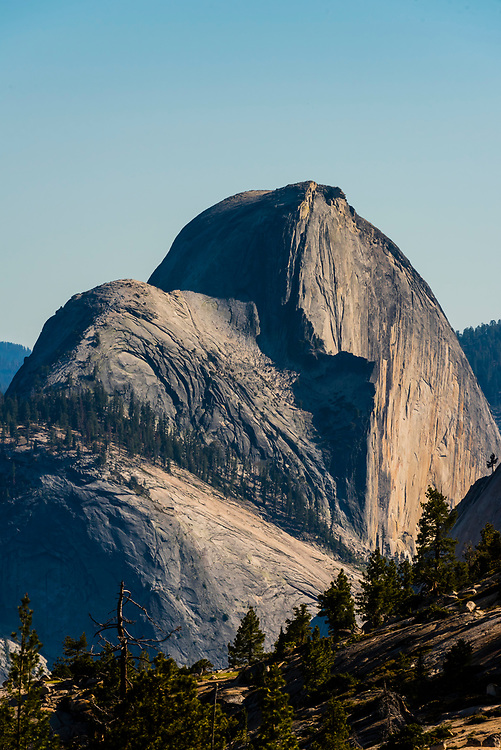 Half Dome, seen from Olmsted Point on Tioga Pass Road,  Yosemite National Park, California USA.