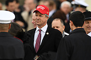 Congressmen Brian Babin wears a Make America Great Again red hat at the President Inaugural Ceremony on Capitol Hill January 20, 2017 in Washington, DC. Donald Trump became the 45th President of the United States in the ceremony.