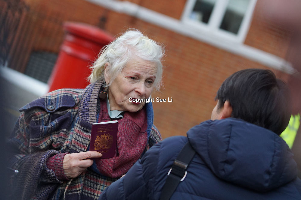 Supporters of Wikileaks founder Julian Assange showed up at the Ecuadorian embassy in London, on February 4, 2016.<br /> <br /> A U.N. panel said that Assange is being arbitrarily held. Police say that he will be arrested if he leaves the embassy.