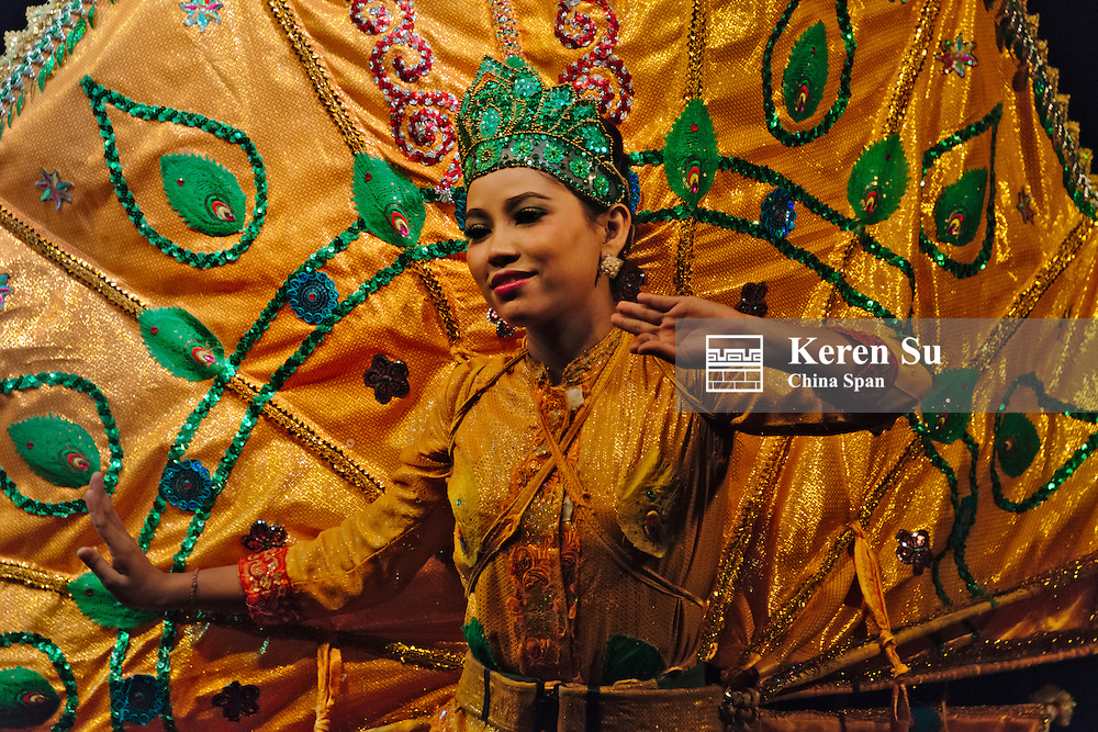 Traditional dance performance, Yangon, Myanmar