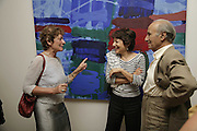 SANDRA MILLER, LINDA DANGOORE AND FRANK KHALASTCHI, Gimpel Fils 60th Anniversary Exhibition. Davies St. London. 27 July 2006. ONE TIME USE ONLY - DO NOT ARCHIVE  © Copyright Photograph by Dafydd Jones 66 Stockwell Park Rd. London SW9 0DA Tel 020 7733 0108 www.dafjones.com