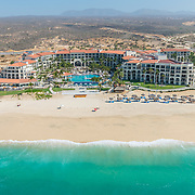 Aerial view of the Dreams Los Cabos hotel. Los Cabos, Mexico.
