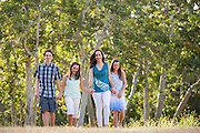 The Graves family poses for their portraits during their Family Portrait Session at Vasona Lake County Park in Los Gatos, California, on June 30, 2015. (Stan Olszewski/SOSKIphoto)
