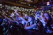 Fans at the iHeartRadio Jingle Ball 2014, hosted by Z100 New York at Madison Square Garden on December 12, 2014 in New York City.