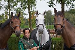 At home with Kamal Bahamdan (KSA) and Noblesse des Tess, Cezanne, Delphi<br /> Tops Stables - Valkenswaard 2012<br /> © Dirk Caremans