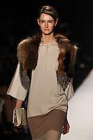 Mackenzie Drazan walks the runway wearing BCBG MAXAZRIA Fall 2012 during Mercedes-Benz Fashion Week in New York City,  on February 9th, 2012