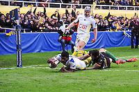ESSAI DE Noa NAKAITACI - 04.04.2015 - Clermont / Northampton - 1/4Finale European Champions Cup<br />Photo : Jean Paul Thomas / Icon Sport