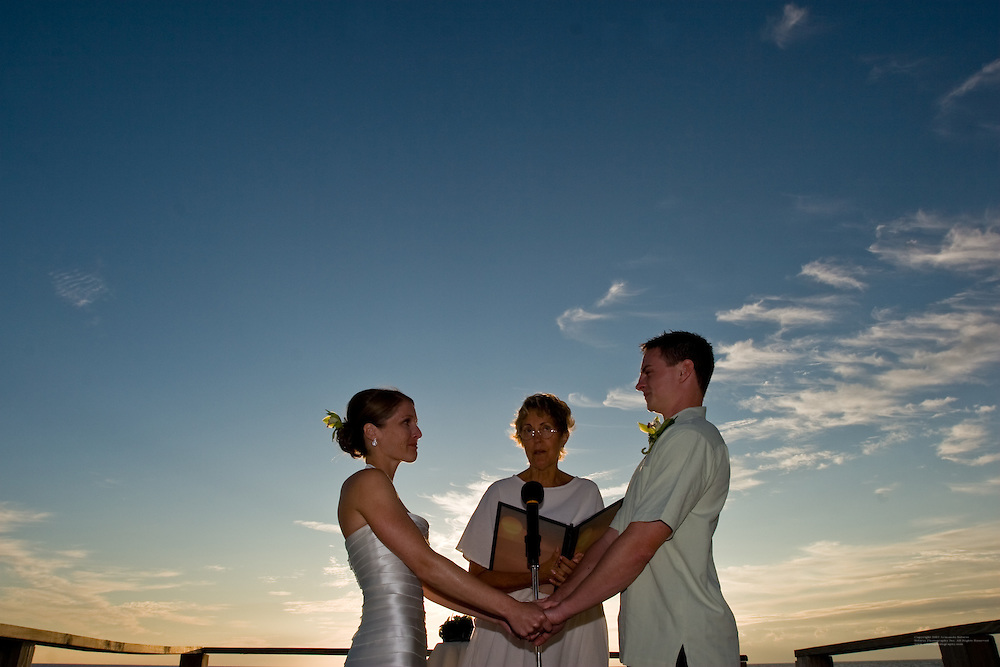 Emily Seibert and Chad Lutz, wedding, October 18, 2008, Englewood, Florida.