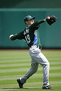 ANAHEIM, CA - APRIL 26:  Pitcher Scott Kazmir #19 of the Tampa Bay Devil Rays warms up before the game against the Los Angeles Angels of Anaheim at Angel Stadium in Anaheim, California on April 26, 2007. The Angels defeated the Devil Rays 11-3. ©Paul Anthony Spinelli *** Local Caption *** Scott Kazmir