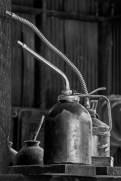 Oil Cans, Railtown, Jamestown, CA