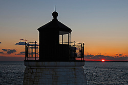 Castle Hill Light at sunset, Newport, Rhode Island, United States of America