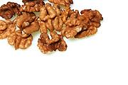 Walnuts on whote background - studio shot