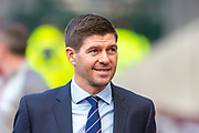 Steven Gerrard, manager of Rangers FC arrives before the Ladbrokes Scottish Premiership match between Heart of Midlothian and Rangers FC at Tynecastle Park, Edinburgh, Scotland on 20 October 2019.