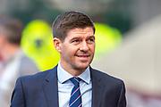 Steven Gerrard, manager of Rangers FC arrives before the Ladbrokes Scottish Premiership match between Heart of Midlothian and Rangers FC at Tynecastle Park, Edinburgh, Scotland on 20 October 2019.