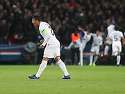 Thiago Silva of Paris Saint-Germain celebrates during the Champions League group stage match between Paris Saint-Germain and Liverpool at Parc des Princes, Paris, France on 28 November 2018.