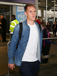 FC Barcelona goalkeeper Marc Andre Ter-Stegen arrives at Manchester Airport - Mandatory by-line: Matt McNulty/JMP - 31/10/2016 - FOOTBALL - Manchester Airport - Manchester, England - Manchester City v Barcelona - UEFA Champions League - Group C