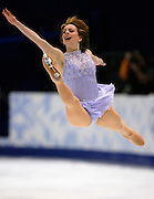 Figure skater Sarah Huges of the United States performs during the women's free skating at the Salt Lake 2002 Olympic Winter Games February 21, 2002.   REUTERS/Rick Wilking