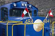 Machu Picchu train engine  Peru