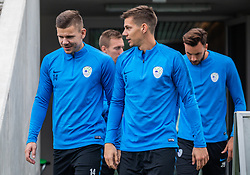 14# Miha Zajc during practice session of Slovenian national football team, on October 8, 2018 in National Football Center Brdo, Kranj, Slovenia. Photo by Urban Meglic / Sportida