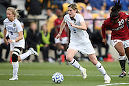 04 December 2011: Duke's Kelly Cobb (9). The Stanford University Cardinal defeated the Duke University Blue Devils 1-0 at KSU Soccer Stadium in Kennesaw, Georgia in the NCAA Division I Women's Soccer College Cup Final.