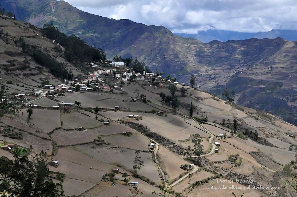 View of Quiabaya, near Sorata, Bolivia