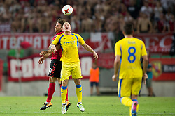 Gaber Dobrovoljc of NK Domzale during 2nd Leg football match between NK Domzale and FC Freiburg in 3rd Qualifying Round of UEFA Europa League 2017/18, on August 3rd, 2017 in SRC Stozice, Ljubljana, Slovenia. Photo by Urban Urbanc / Sportida