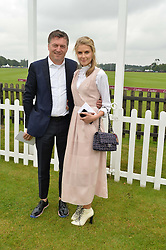 DONNA AIR and MARKUS LUPFER at the Cartier Queen's Cup Polo final at Guard's Polo Club, Smiths Lawn, Windsor Great Park, Egham, Surrey on 14th June 2015