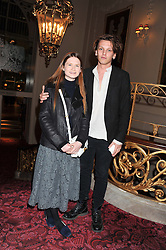 JAMIE CAMPBELL-BOWER and BONNIE WRIGHT at the Audi Ballet Evening held at the Royal Opera House, Bow Street, Covent Garden, London on 22nd March 2012.