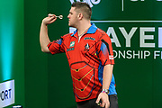 Daryl Gurney during the PDC Darts Players Championship at  at Butlins Minehead, Minehead, United Kingdom on 26 November 2017. Photo by Shane Healey.