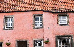 Detail of old traditional Scottish houses in preserved town of Culross in Fife Scotland