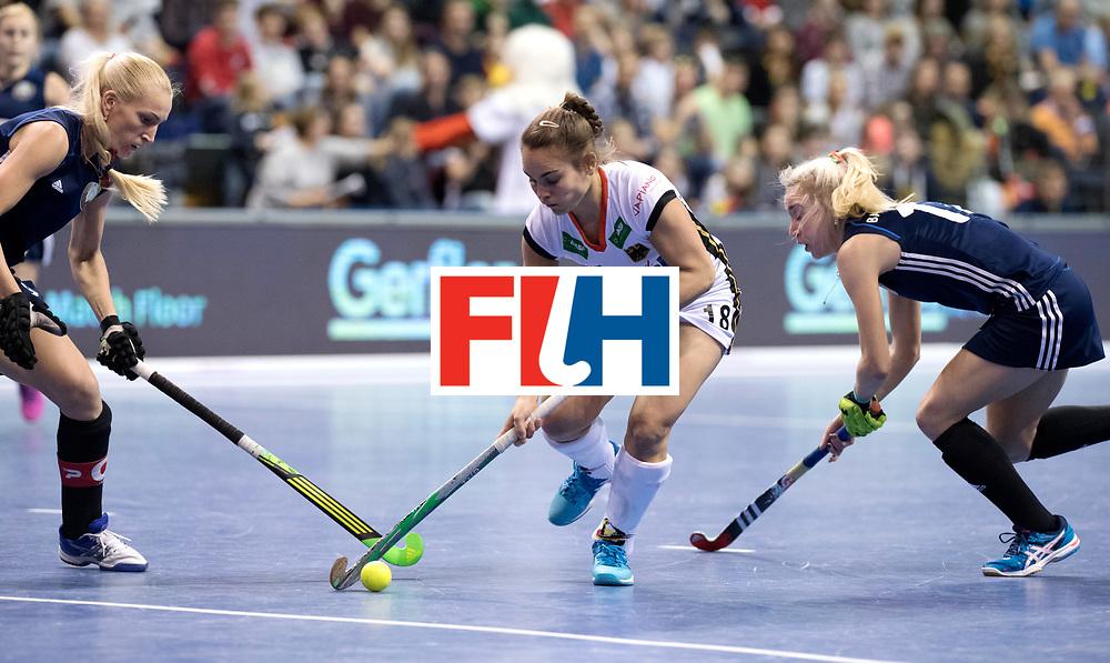 BERLIN - Indoor Hockey World Cup<br /> Semi-final: Belarus - Germany<br /> foto: Lisa Altenburg.<br /> WORLDSPORTPICS COPYRIGHT FRANK UIJLENBROEK
