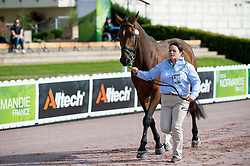 Lee Pearson, (GBR), Zion - Horse Inspection - Alltech FEI World Equestrian Games™ 2014 - Normandy, France.<br /> © Hippo Foto Team - Jon Stroud<br /> 25/06/14