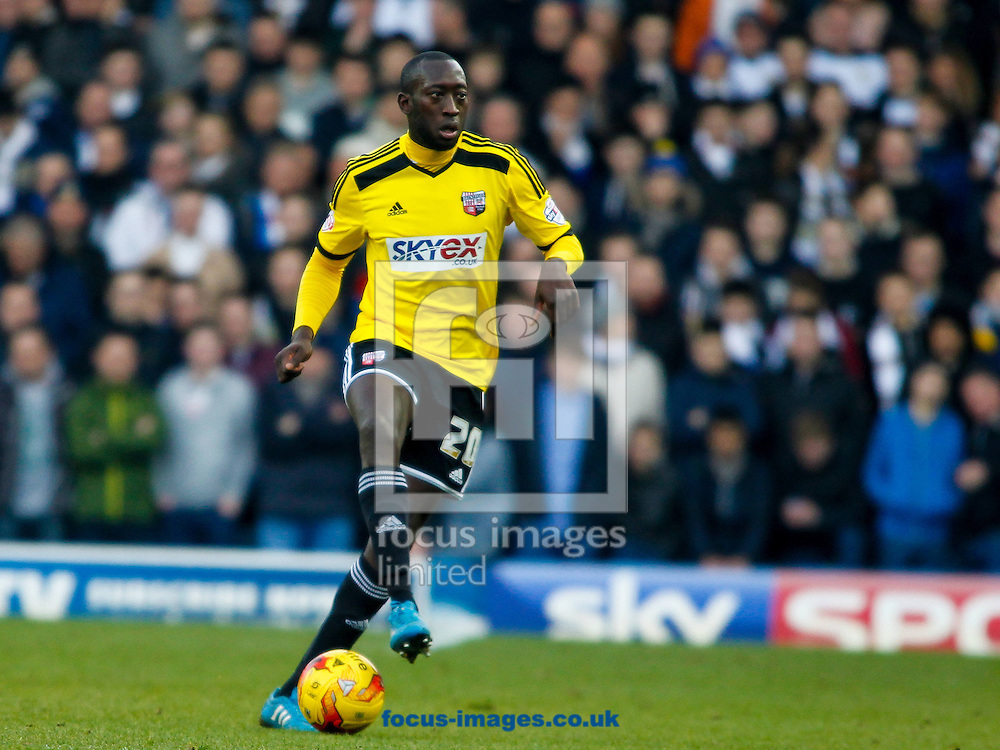 Toumani Diagouraga of Brentford during the Sky Bet Championship match between Leeds United and Brentford at Elland Road, Leeds<br /> Picture by Mark D Fuller/Focus Images Ltd +44 7774 216216<br /> 07/02/2015