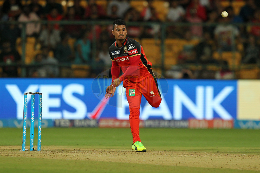 Pawan Negi of Royal Challengers Bangalore during match 5 of the Vivo 2017 Indian Premier League between the Royal Challengers Bangalore and the Delhi Daredevils held at the M.Chinnaswamy Stadium in Bangalore, India on the 8th April 2017Photo by Prashant Bhoot - IPL - Sportzpics