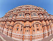 India, Rajasthan. Jaipur. Hawa Mahal (Palace of the Winds).